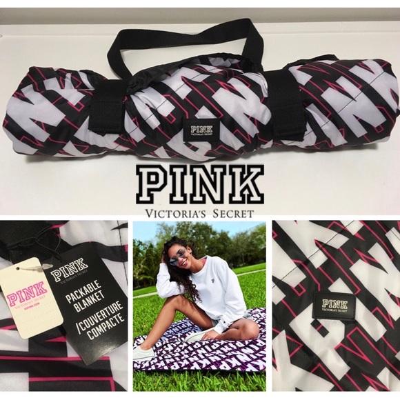 🆕VICTORIA'S SECRET PINK - PACKABLE BLANKET - NWT